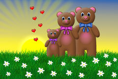 Teddy Bear Family Royaltyfri Foto