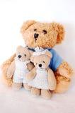 Teddy-bear family. Father, son and daughter Stock Photos