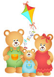 Teddy Bear Family. Scalable vectorial image representing a teddy bear family isolated on white Stock Photos