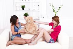 Teddy bear fight Stock Photography