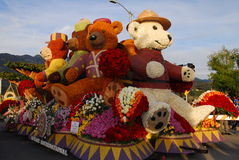Teddy Bear Float at the 122nd tournament of roses Stock Photos