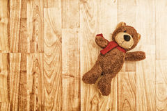 Teddy bear on the floor Royalty Free Stock Photography