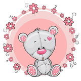Teddy Bear with flowers Royalty Free Stock Image