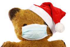 Teddy bear with flu mask Royalty Free Stock Photos