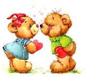Teddy Bear Fond de jouet pour l'anniversaire d'enfant Images libres de droits