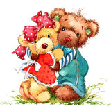 Teddy Bear Fond de jouet pour l'anniversaire d'enfant illustration libre de droits