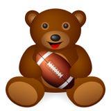 Teddy bear football Royalty Free Stock Image