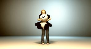Teddy Bear Friend illustration stock