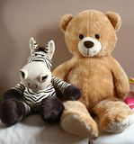 Teddy bear with friend Royalty Free Stock Images