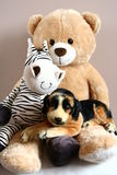 Teddy bear with friends Stock Photo