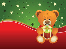 Teddy Bear with Gift Box Royalty Free Stock Photo