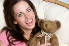 Teddy Bear Girl Royalty Free Stock Photos
