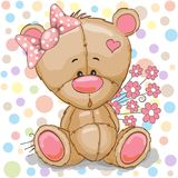 Teddy Bear girl Royalty Free Stock Images