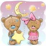 Teddy Bear Girl e ragazzo con una stella illustrazione vettoriale