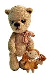 Teddy-bear with girlfriend Stock Image