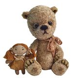 Teddy-bear with girlfriend Stock Photography
