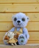Teddy bear with girlfriend Stock Photos
