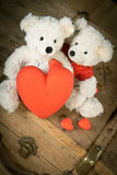 A teddy bear given away his heart Royalty Free Stock Photo