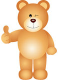 Teddy bear giving the thumbs up sign Stock Photo