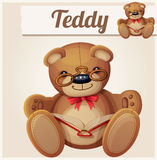 Teddy bear in glasses read the book Royalty Free Stock Image