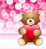 Teddy Bear on Glowing Background Royalty Free Stock Photos