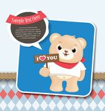 Teddy Bear greeting card Stock Photography