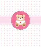 Teddy bear greeting card Stock Image