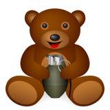 Teddy bear grenade Stock Image