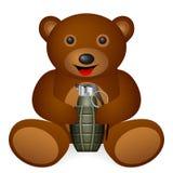 Teddy bear grenade stock illustration