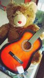 Teddy bear with guitar Royalty Free Stock Photography