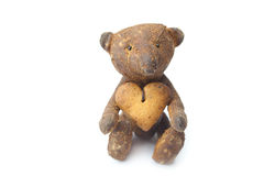 Teddy bear  handmade and cookie Stock Photography