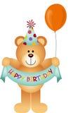 Teddy Bear Happy Birthday Stockfotografie