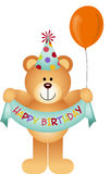 Teddy Bear Happy Birthday Stock Photography