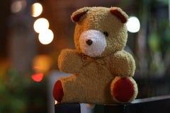 Teddy bear have bokeh royalty free stock photos