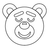 Teddy bear head icon, outline style Royalty Free Stock Images