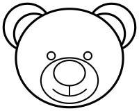Teddy bear head outline icon. Vector illustration. Teddy bear head outline icon. Simple vector illustration royalty free illustration