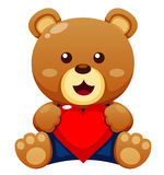 Teddy bear with heart Stock Image