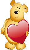 Teddy bear with heart Stock Photos