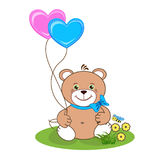 Teddy bear with heart stock photography