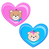 Teddy bear with heart stock images