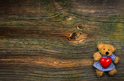 Teddy bear with heart Stock Photo
