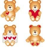 Teddy Bear With Heart sveglio Illustrazione di Stock