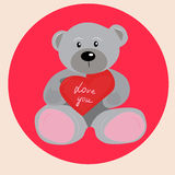 Teddy bear with heart Royalty Free Stock Photography