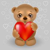 Teddy bear with a heart Royalty Free Stock Photography