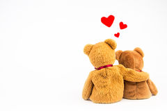 Teddy Bear with heart. On white background stock photography