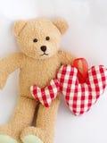 Teddy bear and hearts Royalty Free Stock Photo
