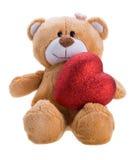 Teddy Bear Holding a Heart Royalty Free Stock Photos