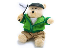 Teddy bear on holiday Royalty Free Stock Image