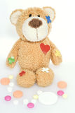 Teddy bear in hospital Stock Photography