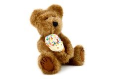 Teddy Bear With Ice Cream Cone Stock Image